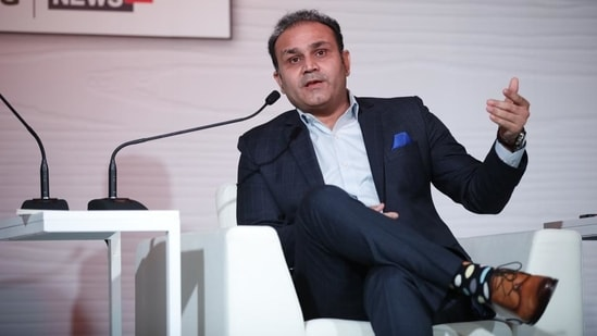 File image of Virender Sehwag.(HT Photo)