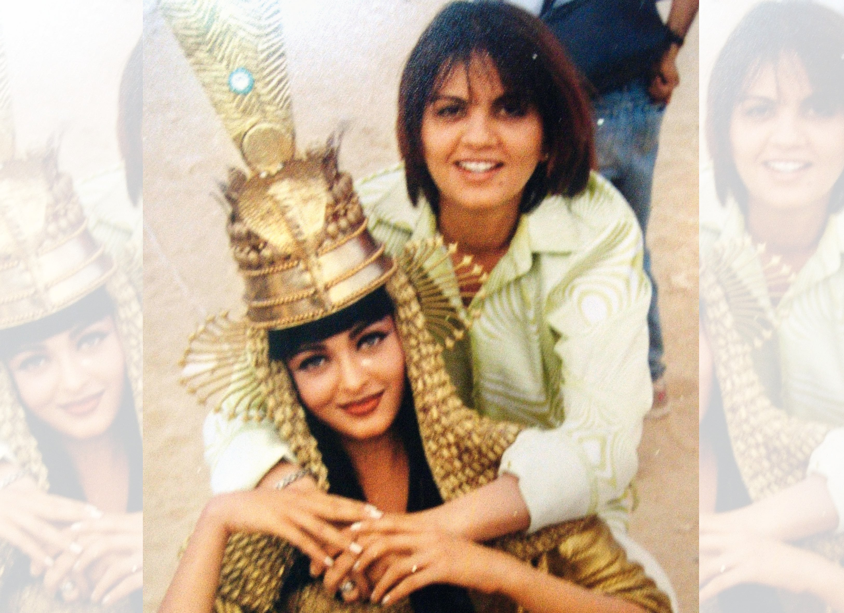 With Aishwarya Rai while filming a song for Jeans in Egypt in the 90s