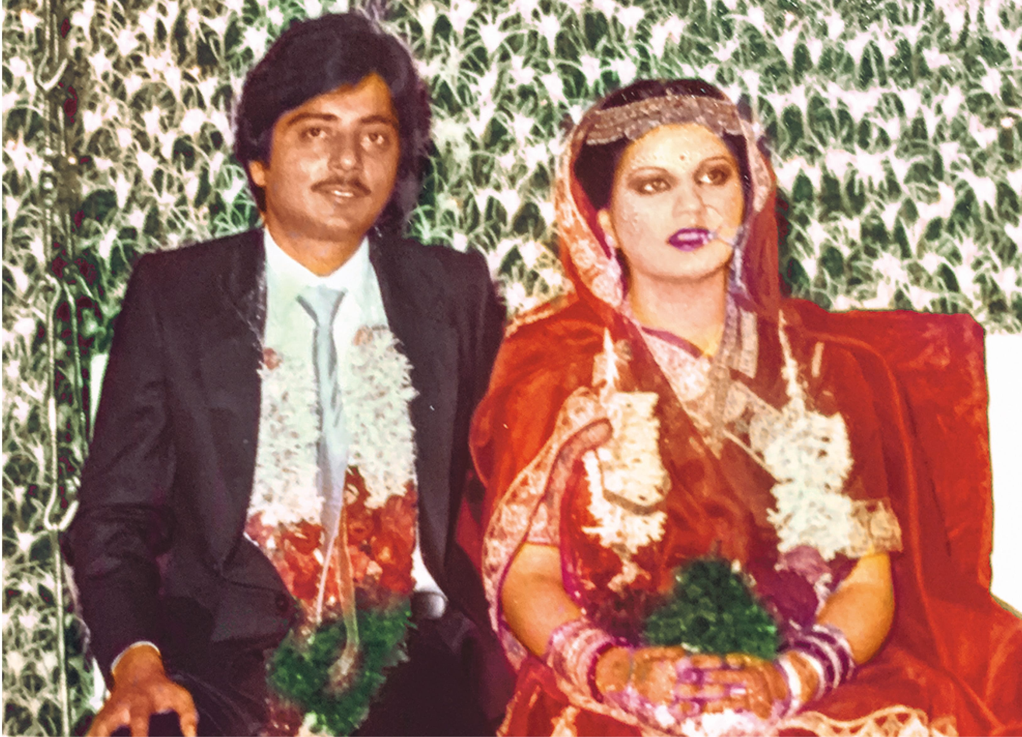 (At her wedding reception with Dr Shyam Lulla