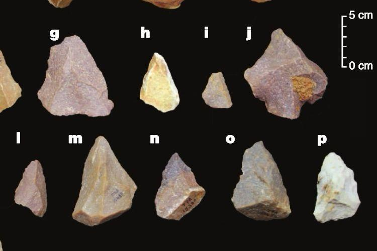 Hand-axes and cleavers. (Sharma Centre for Heritage Education)