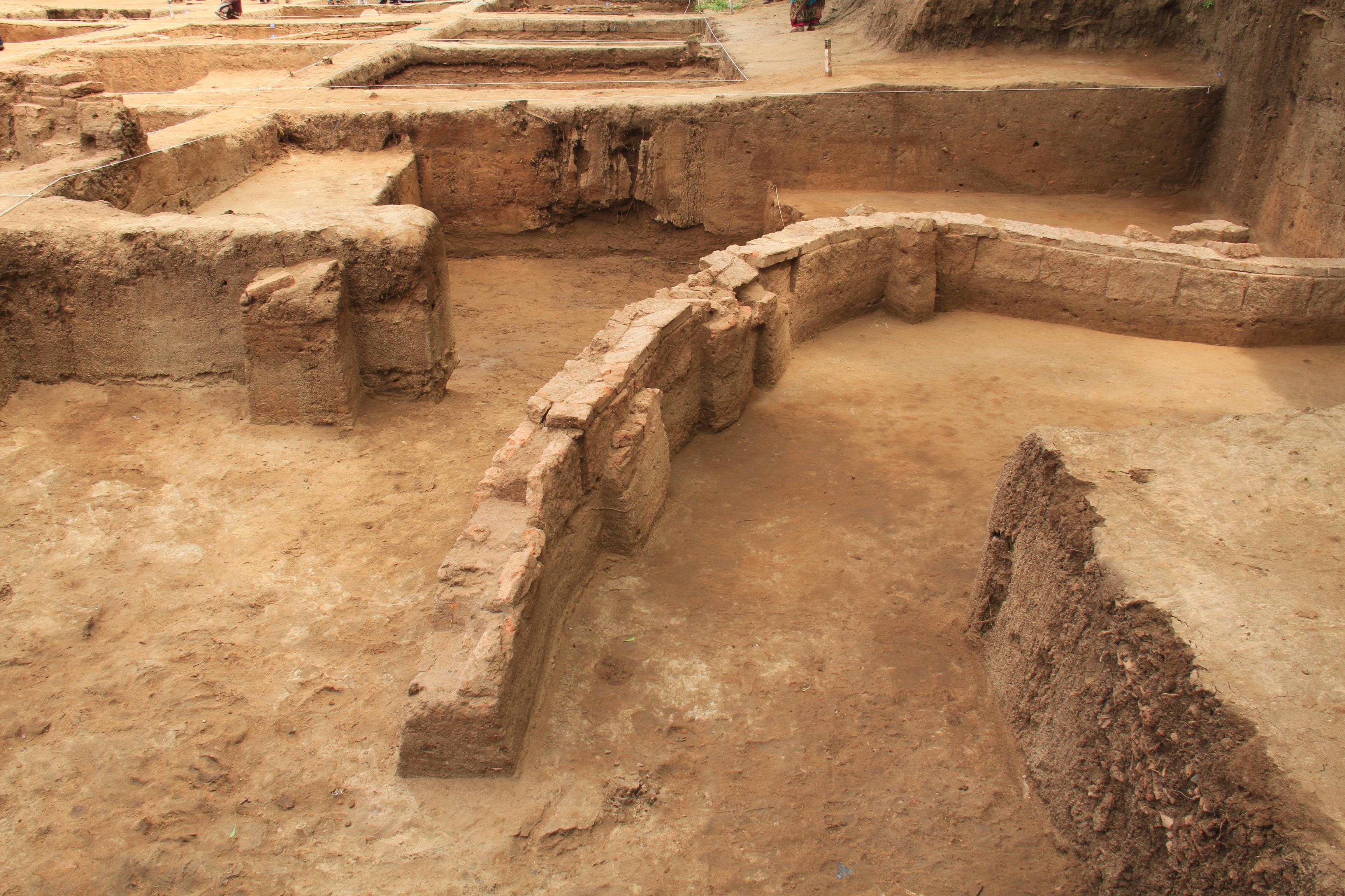 Remains of the Thamirabarani River Civilisation in present-day Tamil Nadu. (Tamil Nadu Archaeology Department)