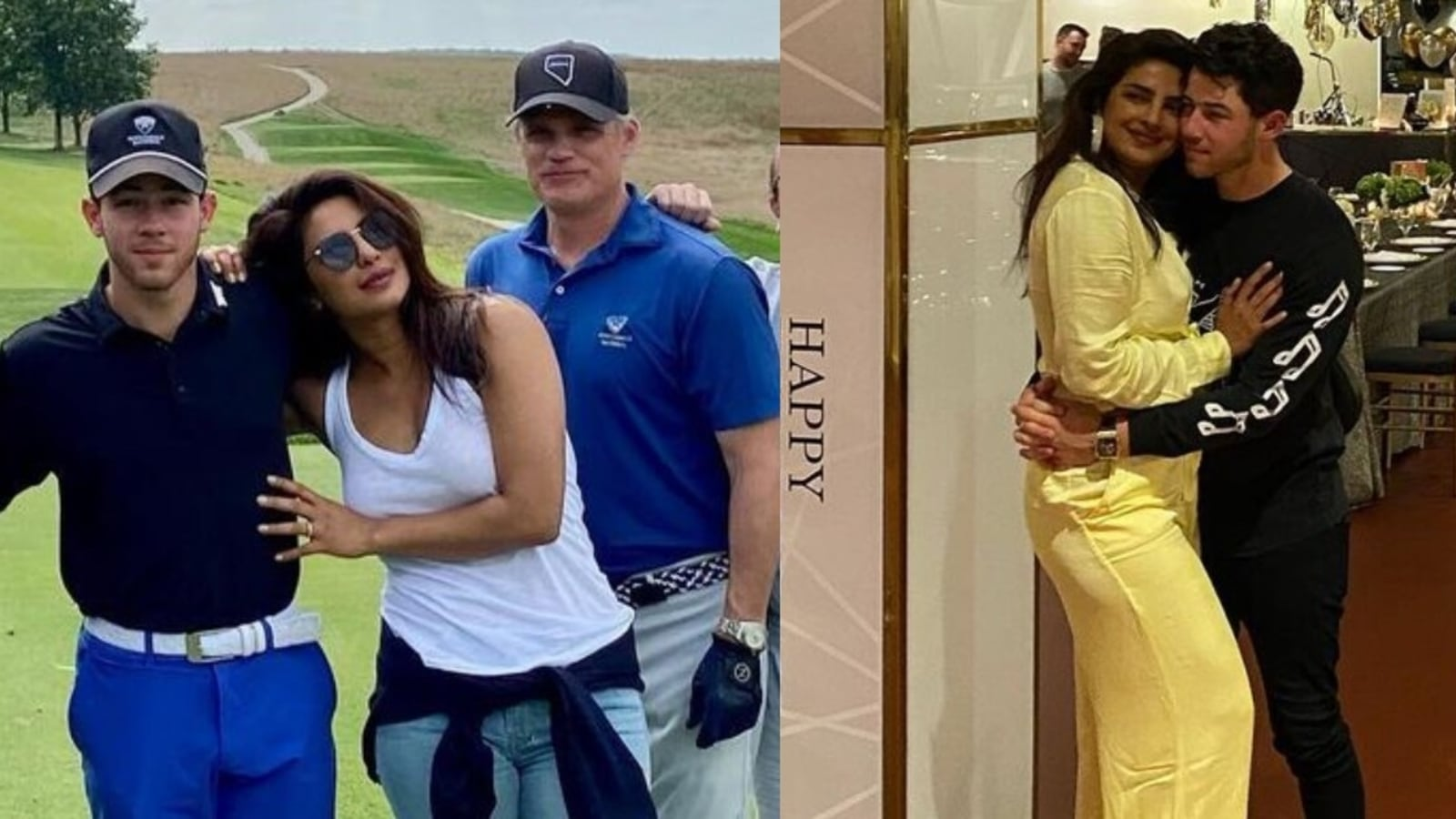 Nick Jonas and Priyanka Chopra manage to squeeze in a game of golf on his 29th birthday, see unseen pics