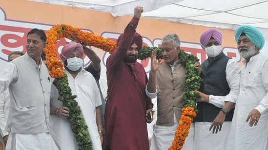 """Amarinder Singh said after resigning """"let them make anyone (the next CM) whom they trust""""."""