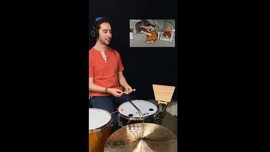 The viral video of the sounds of The Flintstones wowed people.(Instagram/@josh_harmon_)