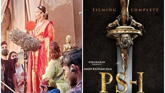 Aishwarya Rai shared an update about her upcoming film Ponniyin Selvan.
