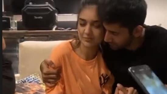 Divya Agarwal with boyfriend Varun Sood.
