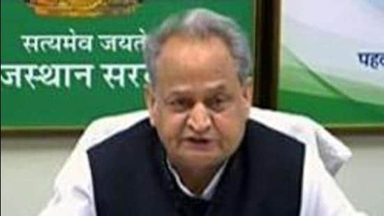 Rajasthan chief minister Ashok Gehlot calls upon all Congressmen to rise above themselves and act responsibly in the interest of the country and the party. (ANI)