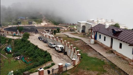 George Everest House and laboratory, where he lived for eleven years, is located at Park Estate near Hathipaon, about 6 kilometres from Gandhi Chowk in Mussoorie. (HT Photo)