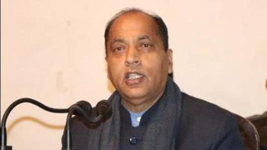 HP government led by Jai Ram Thakur (above) has urged the Centre to consider reducing the rate of GST from 18% to 5% by adding a specific entry related to ropeways and other unconventional modes of transportation. (HT file photo)