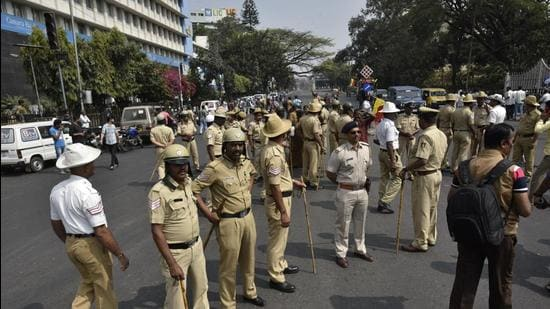 The accused is a native of Rajasthan and a case has been filed under the Official Secrets Act and Indian Penal Code, an official from the CCB department of Bengaluru police said. (Arijit Sen/HT Photo)