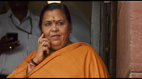BJP leader Uma Bharti sparked off a controversy with her remarks on bureaucrats. The BJP veteran later suggested that her remarks were misconstrued and apologised (PTI)