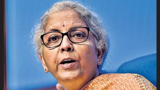 Finance Minister Nirmala Sitharaman (Sanjeev Verma/HT PHOTO)