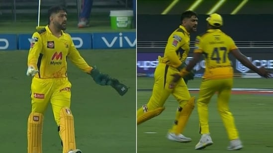 Dhoni loses his cool at Bravo(HT Collage)