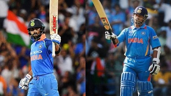 Virat Kohli and Sachin Tendulkar.(Getty Images)