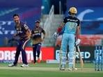 Prasidh Krishna celebrates the wicket of Virat Kohli(PTI)