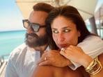 Kareena Kapoor and Saif Ali Khan on their vacation.