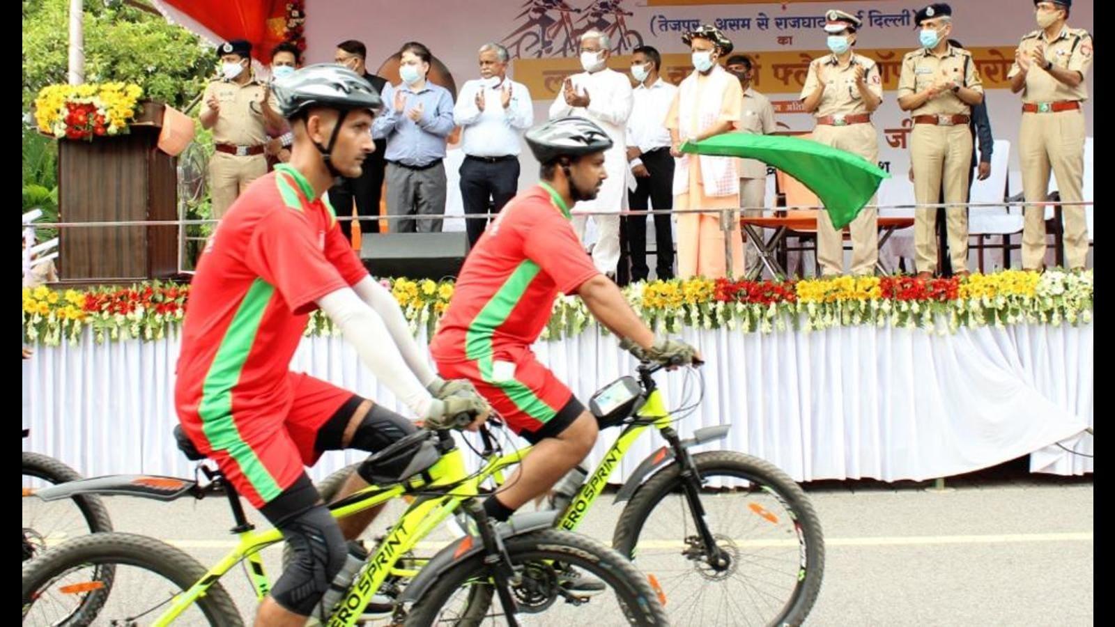 UP chief minister flags off cycle rally as part of Azadi ka Amrit Mahotsav