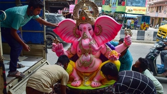 Pratibha Pal said the IMC had collected idols of Lord Ganesh from various centres on the last day of the ten-day festival on Sunday for immersion at the select water sources.(PTI file photo. Representative image)