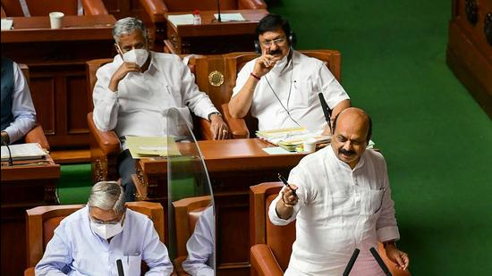 Chief minister Basavaraj Bommai in the Karnataka assembly said that the bill was a not-for-profit model and had a comprehensive multi-subject curriculum for university. (PTI)