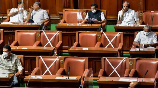"""The state government on Tuesday said it is deliberating on introducing a law to """"check involuntary religious conversions"""", after a BJP legislator raised the issue in the Karnataka assemblyearlier in the day. (PTI)"""