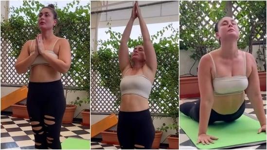Birthday girl Kareena Kapoor performs Surya Namaskars in new video, serves fitness goals(Instagram/@anshukayoga)