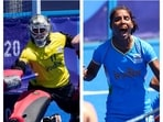 Savita and Vandana Katariya collage.(AP)