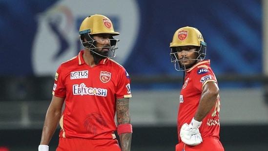 Punjab Kings KL Rahul and Mayank Agarwal during the IPL.(ANI)