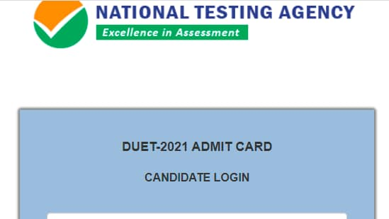DUET admit cards 2021: Candidates who have registered for the DU entrance examination, can download their admit card from the official website of NTA at nta.ac.in.(nta.ac.in)