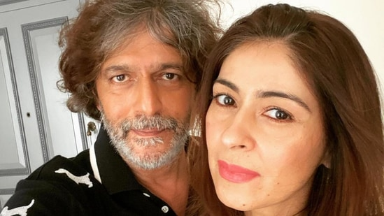 Bhavana and Chunky Panday pose for a selfie.