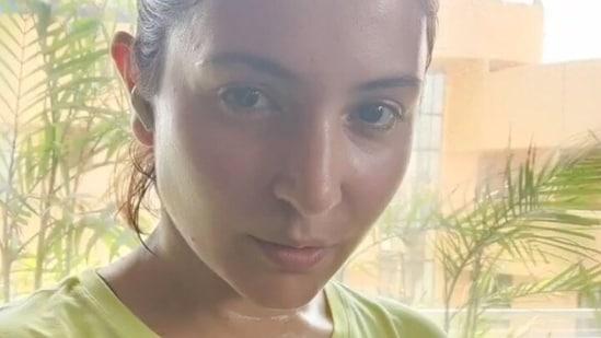 Anushka Sharma is back in Mumbai.