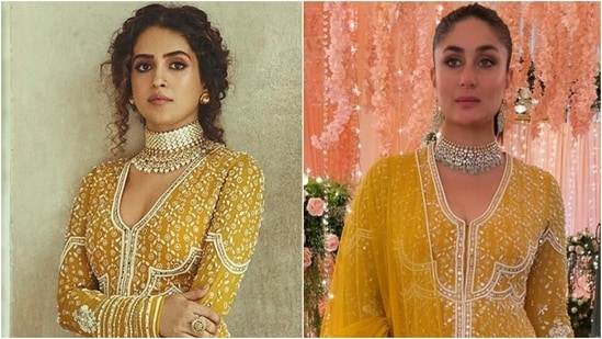 Sanya Malhotra or Kareena Kapoor Khan: Who wore the <span class='webrupee'>₹</span>1 lakh anarkali better?