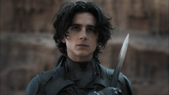 Timothee Chalamet in a still from Dune.