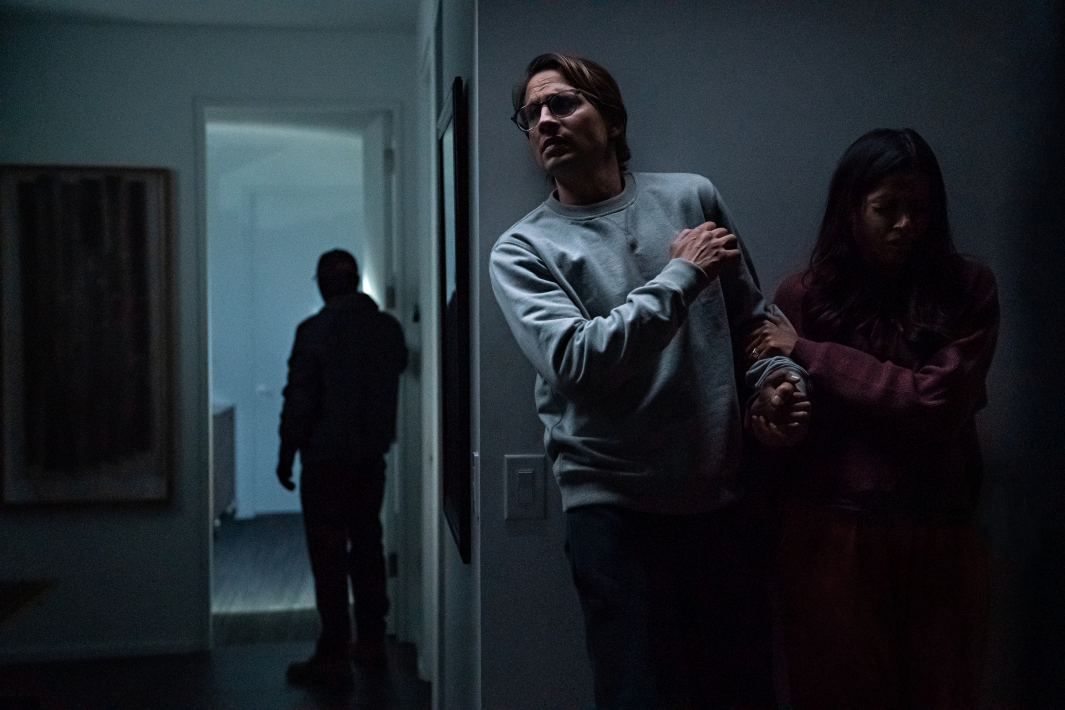 Freida Pinto and Logan Marshall-Green in a still from Intrusion.