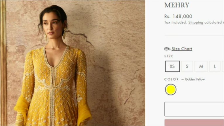 The Mehry Anarkali.(ridhimehra.com)
