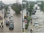 On September 22, Ludhiana received 16.4mm rainfall, taking the gross rainfall this month to 199.4 mm, which is 97.6mm more than the average rainfall of 101.8mm.(HT Photo/Gurpreet Singh)