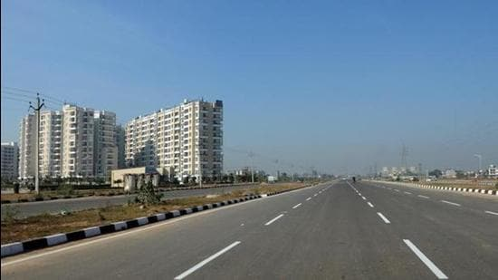 At two projects of the GBP Group – Athens (residential and commercial) and Aeroze (residential) – both on the Airport road in Mohali, construction has remained stalled for years. (HT FIle Photo/for representation only)