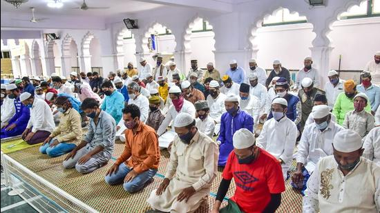 Muslims offer prayers in Bengaluru. (File photo)