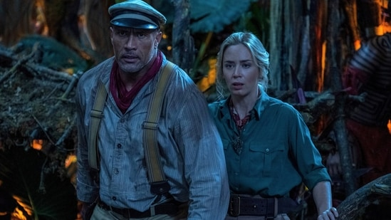 Jungle Cruise movie review: Dwayne Johnson and Emily Blunt in a still from the new Disney film.(AP)
