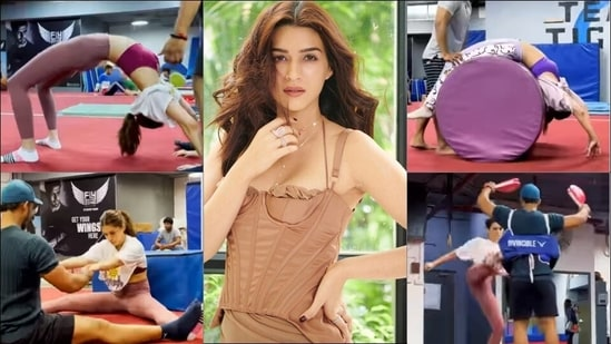Kriti Sanon's intense workout at gym for 'Ganapath prep' makes your jaws drop