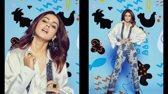 Loved Genelia D'Souza's suspender pants at Bigg Boss OTT? Here's what they cost(Instagram/geneliad)