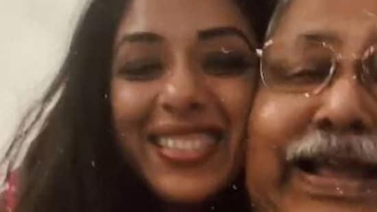 Rupali Ganguly and Satish Shah during the Sarabhai Vs Sarabhai reunion.