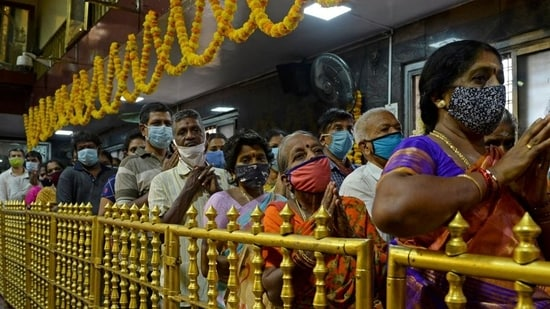 Tirumala temple remained open throughout the second wave of the coronavirus pandemic but entry was restricted(HT_PRINT)