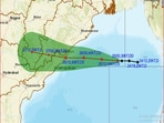 The predicted path of Cyclone Gulab as presented by India Meteorological Department.(Courtesy: mausam.imd.gov.in)