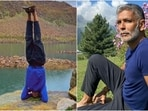 Milind Soman's jaw-dropping video of nailing headstand at 14k ft in Gulmarg will blow your mind(Instagram/@milindrunning)