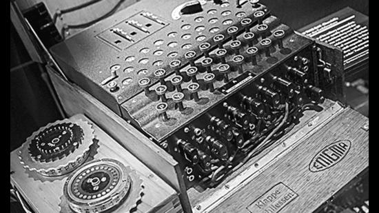 Part of Alan Turing's Enigma Machine, which was used to decode enemy messages during WWII at Bletchley Park in Britain. (Shutterstock)