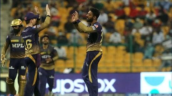 KKR's Varun Chakravarthy.(IPL)