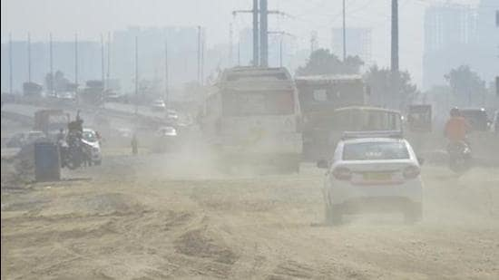 In terms of pollution, Ghaziabad is listed among the 16 non-attainment cities in Uttar Pradesh with high pollution levels. (HT archive)