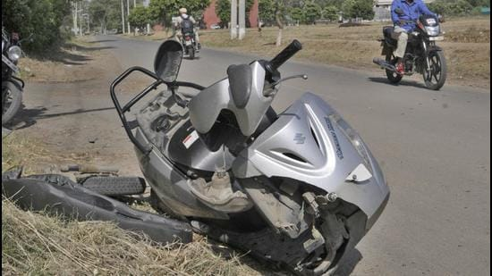 The injured scooterist was taken to PGIMER, Chandigarh, where he was declared brought dead. (HT Photo/for representation only)