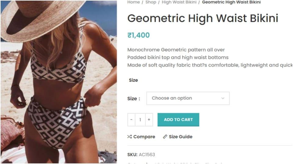 Disha Parma's Geometric High Waist Bikini.(angelcroshet.com/)