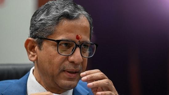 Chief Justice of India NV Ramana.(AFP)